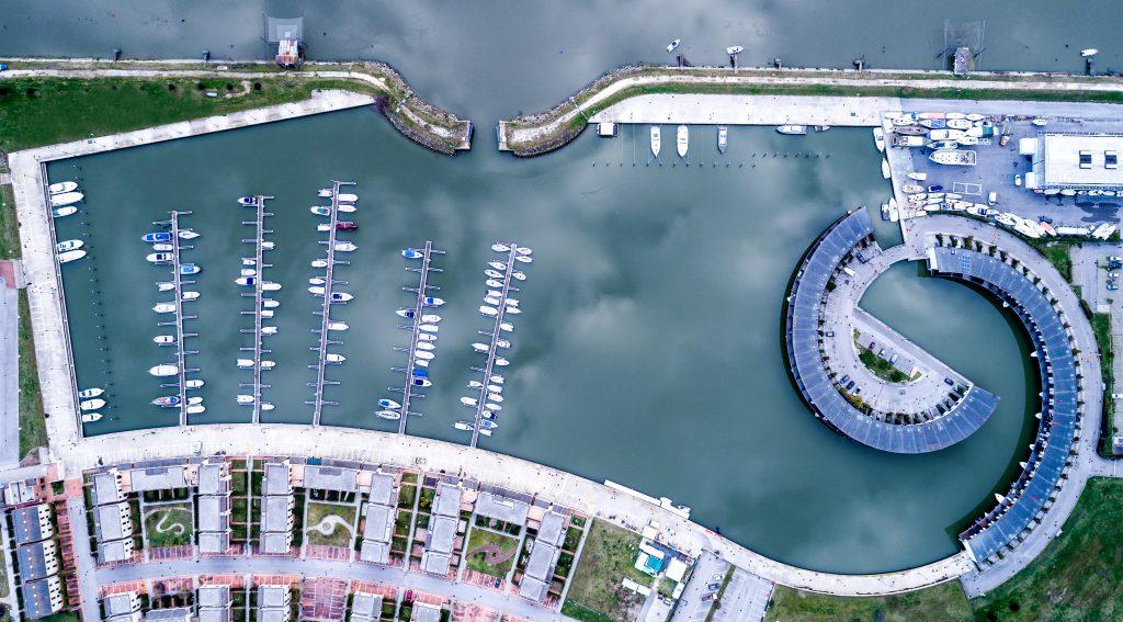 Marina di Porto Reno - Vista zenitale