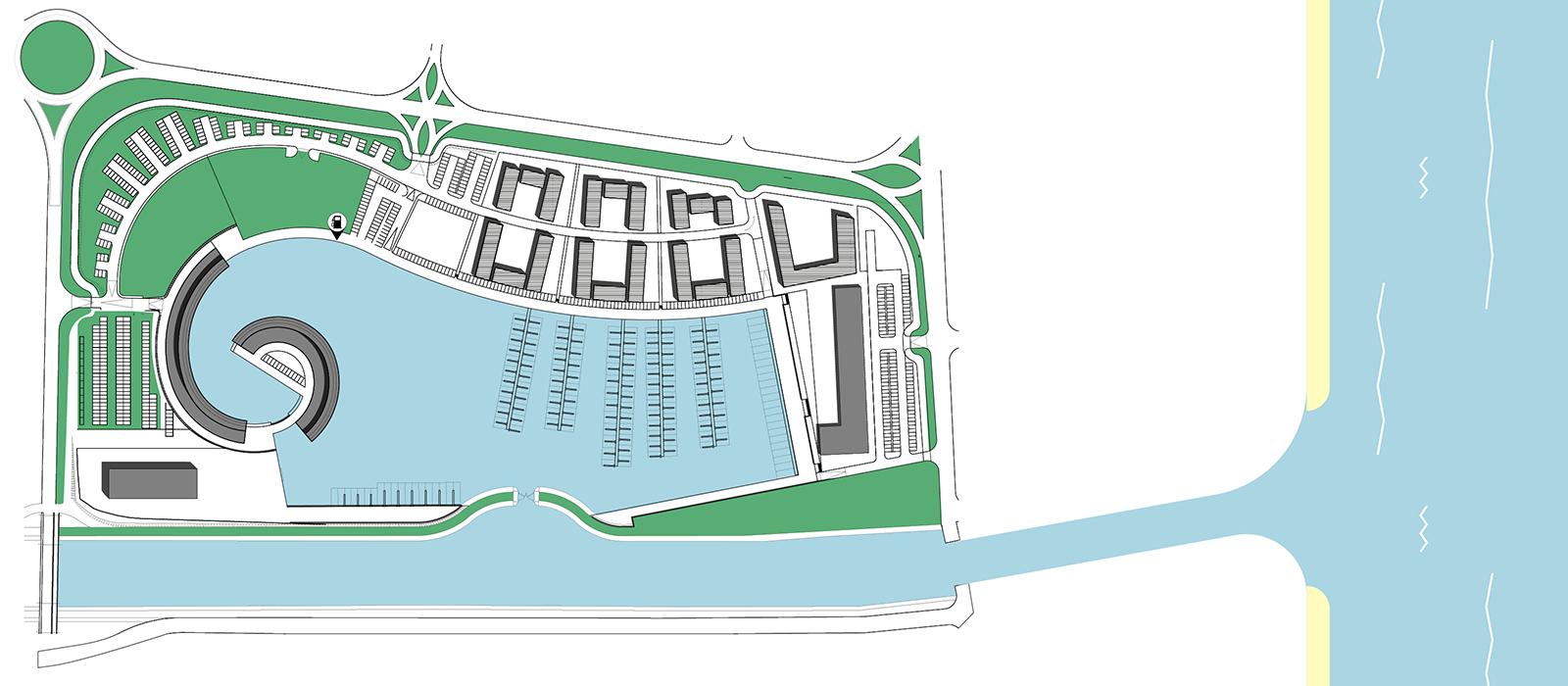 Marina di Porto Reno, planimetria generale